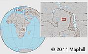 Gray Location Map of Chikakala