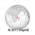 Outline Map of Mocimboa Da Praia, rectangular outline