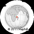 "Outline Map of the Area around 11° 20' 3"" S, 42° 34' 30"" E, rectangular outline"