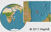 Satellite Location Map of Mbéni