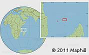 "Savanna Style Location Map of the area around 11°20'3""S,45°7'30""E"