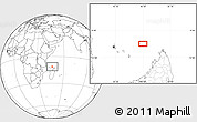 """Blank Location Map of the area around 11°20'3""""S,46°49'30""""E"""