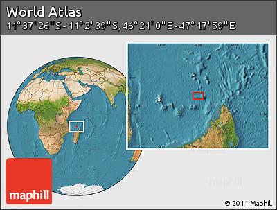 "Satellite Location Map of the Area around 11°20'3""S,46°49'30""E"