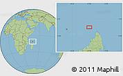 "Savanna Style Location Map of the area around 11°20'3""S,47°40'29""E"