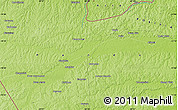 "Physical Map of the area around 11° 20' 3"" S, 68° 46' 30"" W"