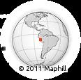 Outline Map of Conocancha, rectangular outline