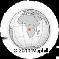 Outline Map of Luena, rectangular outline