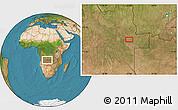 Satellite Location Map of Bissua