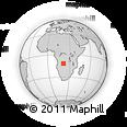 Outline Map of Bissua, rectangular outline