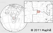 Blank Location Map of Mwinilunga