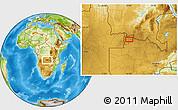 Physical Location Map of Mwinilunga