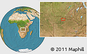 Satellite Location Map of Mwinilunga