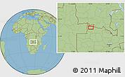 Savanna Style Location Map of Mwinilunga