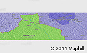 """Political Panoramic Map of the area around 11°51'9""""S,27°16'29""""E"""
