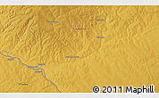 Physical 3D Map of Mwenda