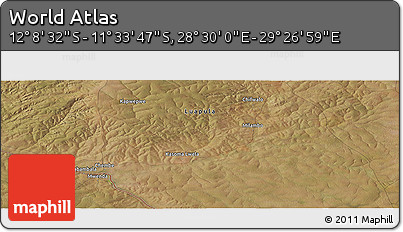 "Satellite Panoramic Map of the Area around 11°51'9""S,28°58'30""E"