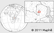 """Blank Location Map of the area around 11°51'9""""S,29°49'30""""E"""