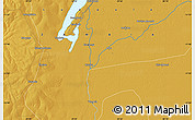 """Physical Map of the area around 11°51'9""""S,29°49'30""""E"""