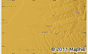 """Physical Map of the area around 11°51'9""""S,30°40'29""""E"""