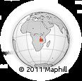 "Outline Map of the Area around 11° 51' 9"" S, 30° 40' 29"" E, rectangular outline"