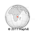 Outline Map of Chiwangu, rectangular outline