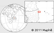 """Blank Location Map of the area around 11°51'9""""S,40°52'30""""E"""