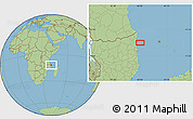 "Savanna Style Location Map of the area around 11°51'9""S,40°52'30""E"