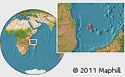 "Satellite Location Map of the area around 11°51'9""S,43°25'29""E"