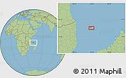 "Savanna Style Location Map of the area around 11°51'9""S,43°25'29""E"