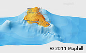 """Political Panoramic Map of the area around 11°51'9""""S,43°25'29""""E"""