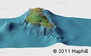 "Satellite Panoramic Map of the area around 11°51'9""S,43°25'29""E"