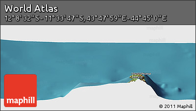 "Satellite Panoramic Map of the Area around 11°51'9""S,44°16'29""E"