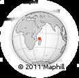 "Outline Map of the Area around 11° 51' 9"" S, 45° 58' 30"" E, rectangular outline"
