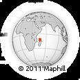 "Outline Map of the Area around 11° 51' 9"" S, 46° 49' 30"" E, rectangular outline"