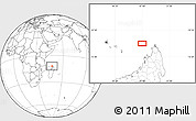 """Blank Location Map of the area around 11°51'9""""S,47°40'29""""E"""