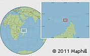 "Savanna Style Location Map of the area around 11°51'9""S,47°40'29""E"