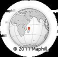 "Outline Map of the Area around 11° 51' 9"" S, 47° 40' 29"" E, rectangular outline"