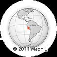 Outline Map of Marcahuasi - San Pedro De Casta, rectangular outline