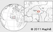 Blank Location Map of Fada N'Gourma