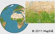 Satellite Location Map of Fada N'Gourma