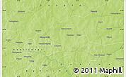 "Physical Map of the area around 12° 11' 54"" N, 0° 4' 30"" E"