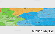 Political Panoramic Map of Bosangré
