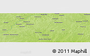 Physical Panoramic Map of Komwana