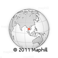 """Outline Map of the Area around 12° 11' 54"""" N, 102° 4' 29"""" E, rectangular outline"""