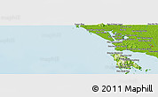 """Physical Panoramic Map of the area around 12°11'54""""N,102°4'29""""E"""