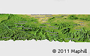 "Satellite Panoramic Map of the area around 12° 11' 54"" N, 103° 46' 30"" E"