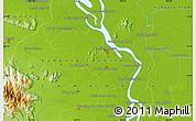 Physical Map of Khŭm Thlôk Viĕn