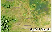 Satellite Map of Khŭm Thlôk Viĕn