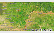 """Satellite 3D Map of the area around 12°11'54""""N,105°28'29""""E"""
