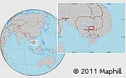 Gray Location Map of Barayn